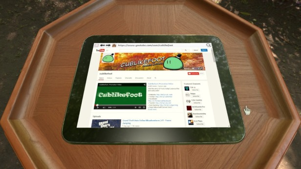 Yes, this is an in-game tablet that actually works